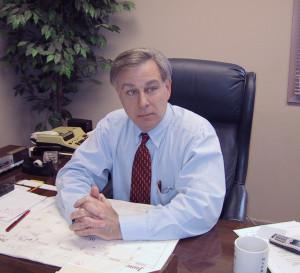 Clarke at desk